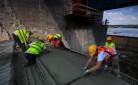 Torkretowanie - Zapora wodna w Nysie  -torkretowanie na mokro